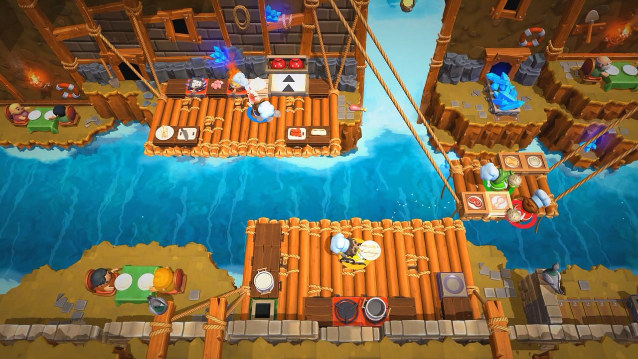 Screenshots aus Overcooked! 2