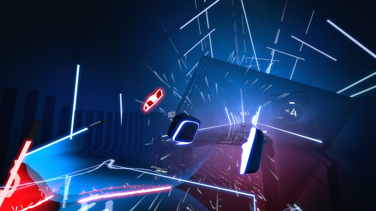 Screenshots aus Beat Saber